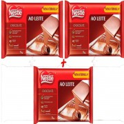 Kit C/3 Barra De Chocolate Ao Leite Nestlé de 1kg Profissional