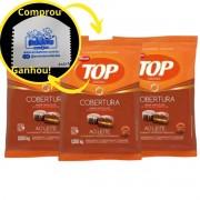 kit C/3 Cobertura Fracionada sabor chocolate ao Leite Gotas 1,05 kg Top Harald