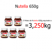 Kit Nutella 650g c/5 Ferrero