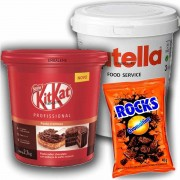 Nutella 3kg + Kitkat 2,1kg Pasta Cremosa + Ovomaltine Rocks