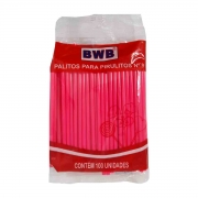 Palito Pirulito Pink com 100 unidades Nº9 Pequeno BWB