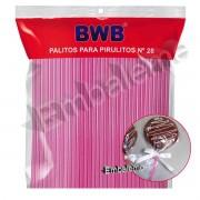 Palito Pirulito ROSA com 50 unidades Nº28 Grande BWB