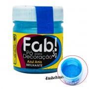 Pó para Decoração Azul Anis 3g FAB