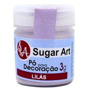 Pó para Decoração Cintilante Lilás 3g Sugar Art