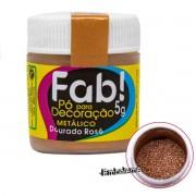 Pó para Decoração Dourado Rosê 5g FAB