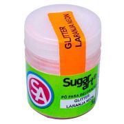 Pó para Decoração Glitter Laranja Neon 5g Sugar Art
