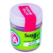 Pó para Decoração Glitter Magenta 5g Sugar Art