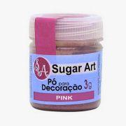Pó para Decoração Pink 3g Sugar Art