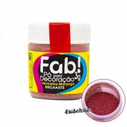 Pó para Decoração Vermelho Morango 3g FAB