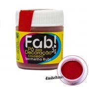 Pó para Decoração Vermelho Rubi 3g FAB