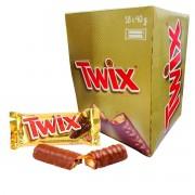 Twix Chocolate Duplo Caixa com 18 unidades de 40g (Cada)