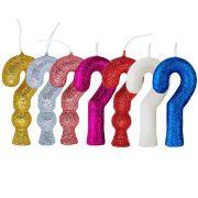 Vela Interrogação Cintilante Regina - escolha uma cor!
