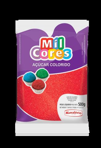 Açúcar Colorido Vermelho Mil Cores Mavalério 500g