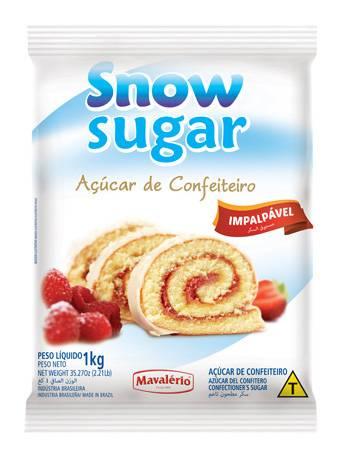 Açúcar de Confeiteiro 1kg Snow Sugar Mavalério