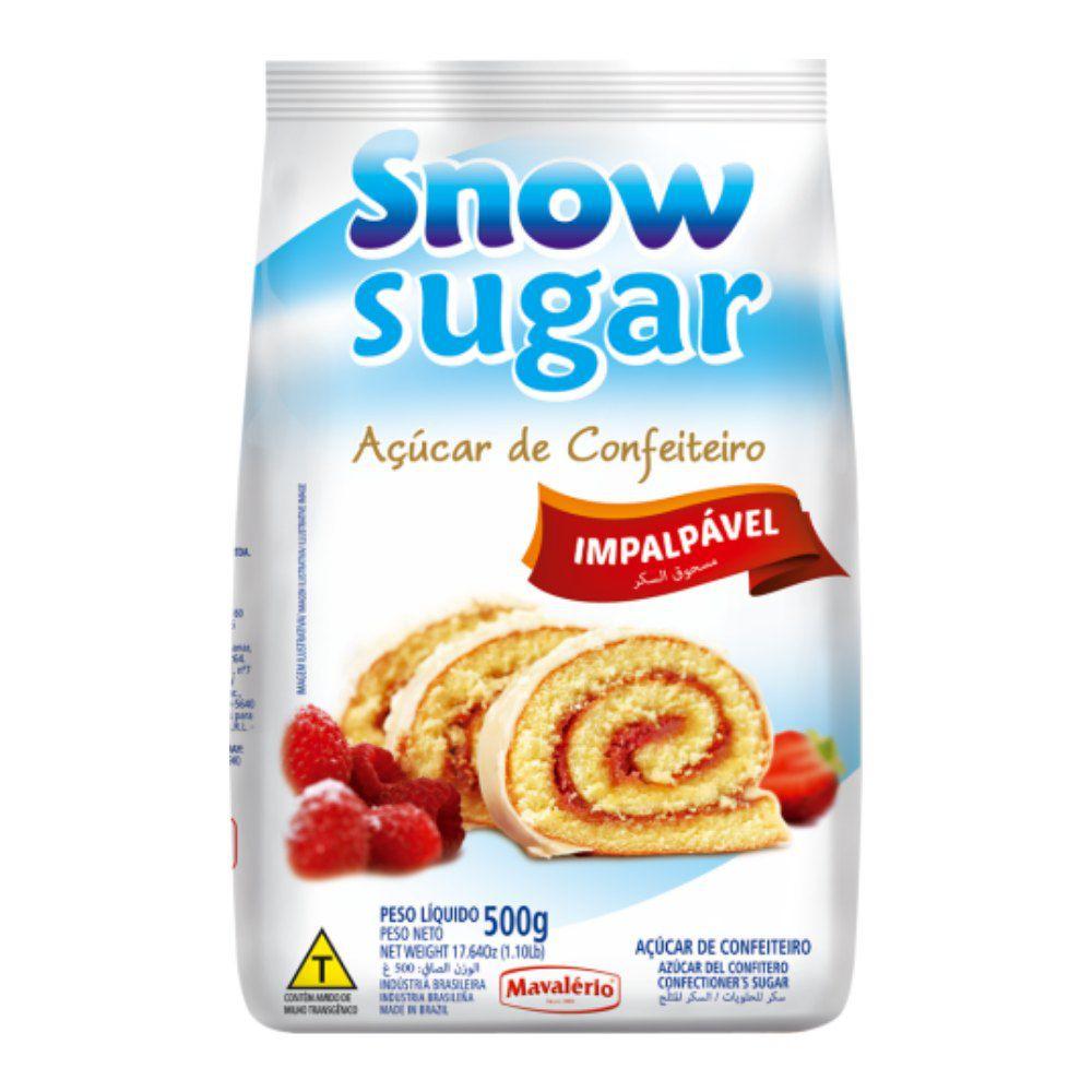 Açúcar de confeiteiro Snow Sugar 500g Mavalério