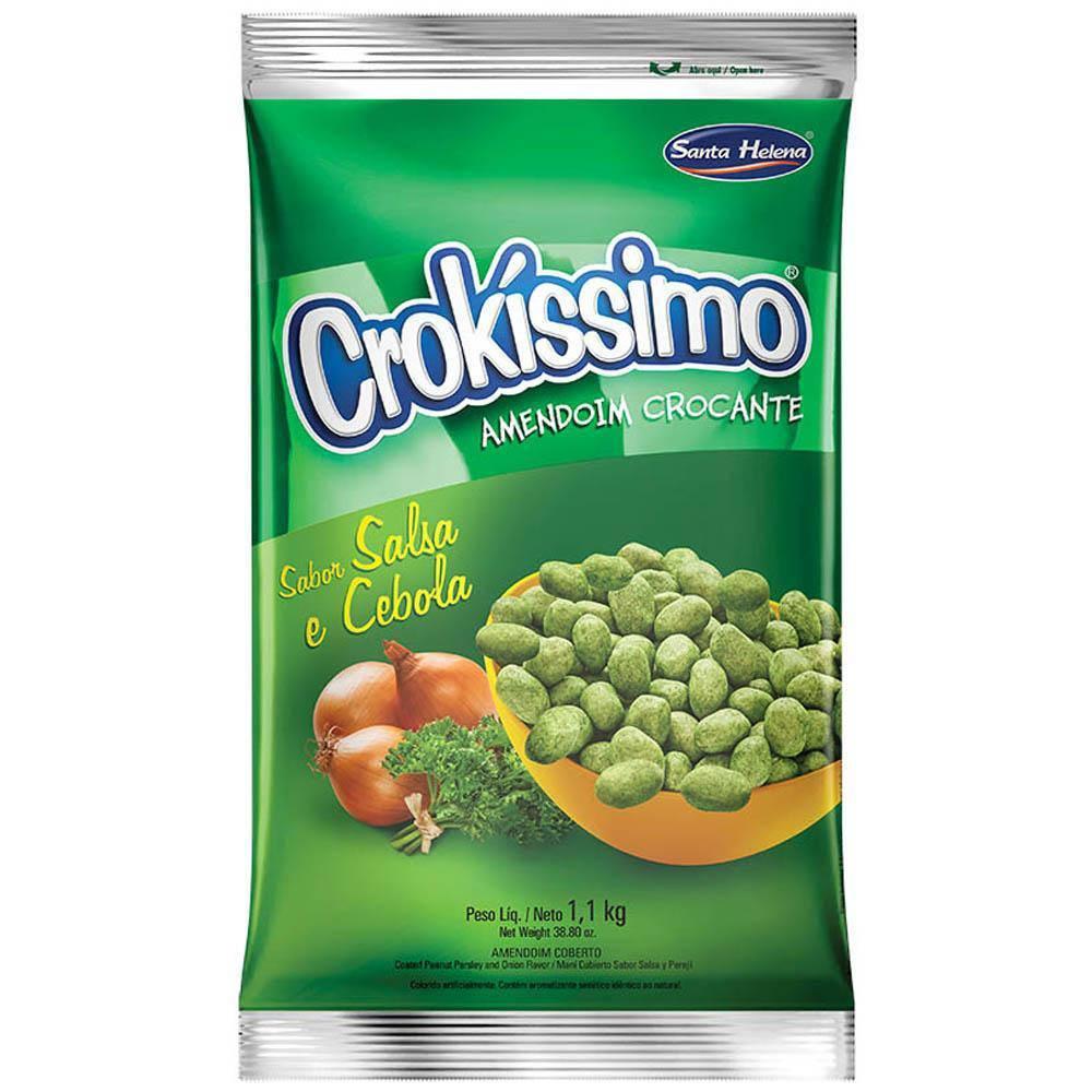 Amendoim Crokíssimo Salsa e Cebola 1,01kg Santa Helena
