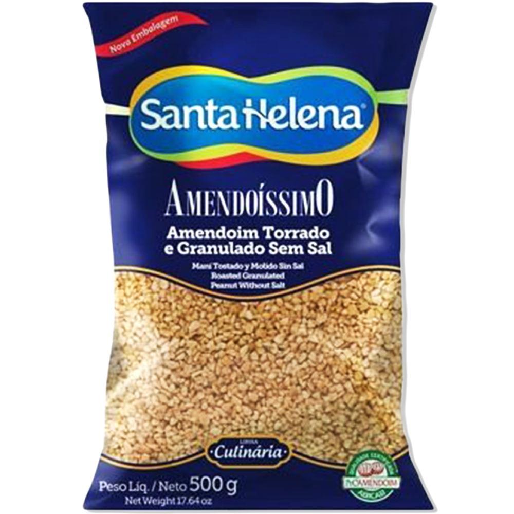 Amendoim Torrado e Granulado Sem Sal 500g Santa Helena