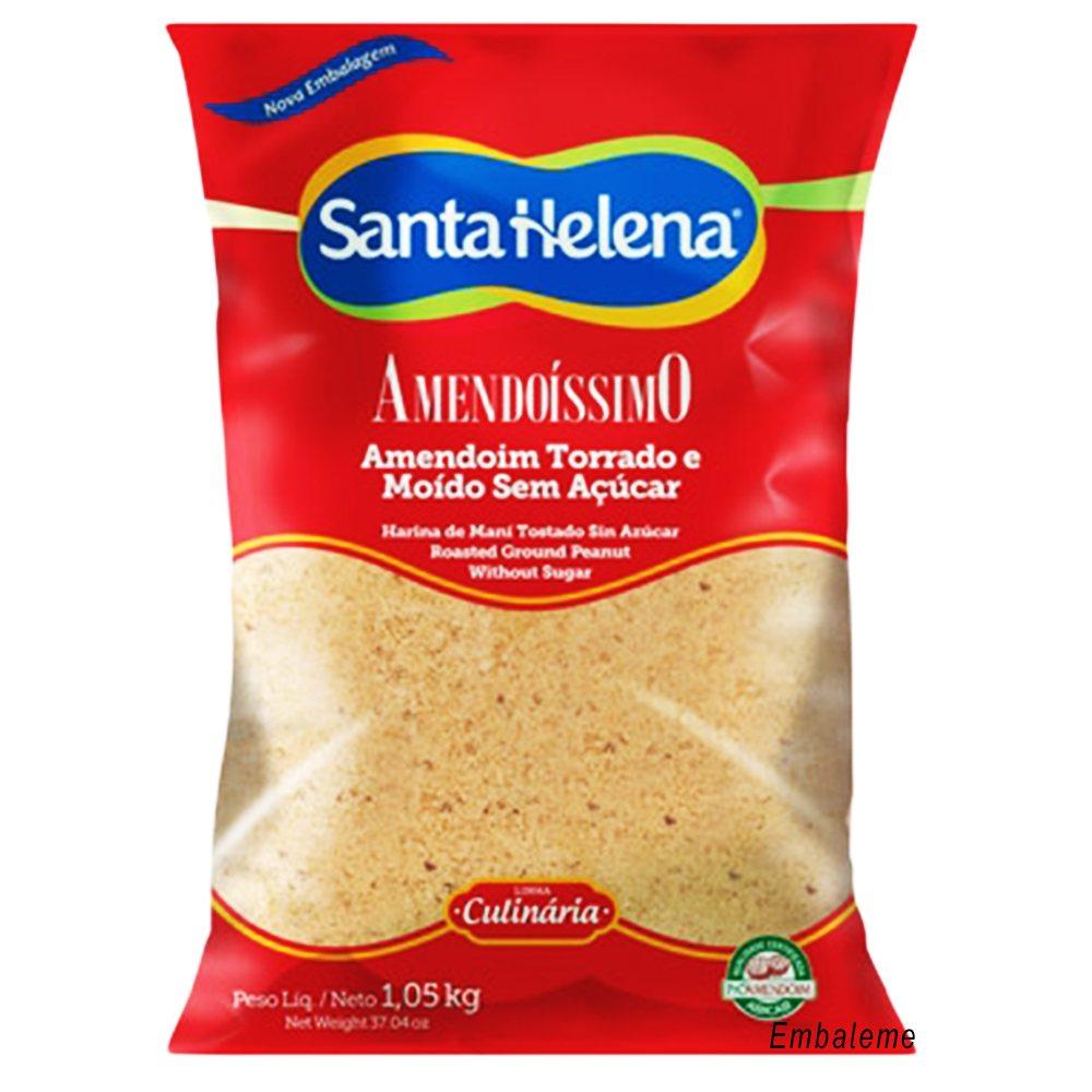 Amendoim Torrado e Moído sem Açúcar Amendoíssimo 1,05kg Santa Helena