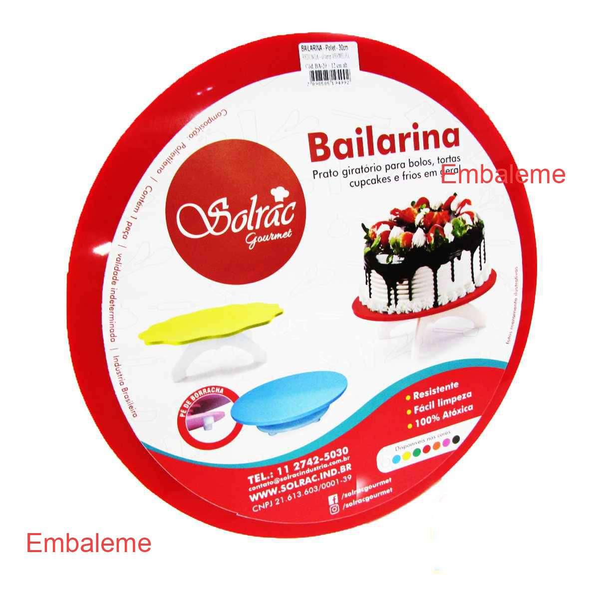 Bailarina Solrac Gourmet Vermelho 30cm Cód.Ba-20