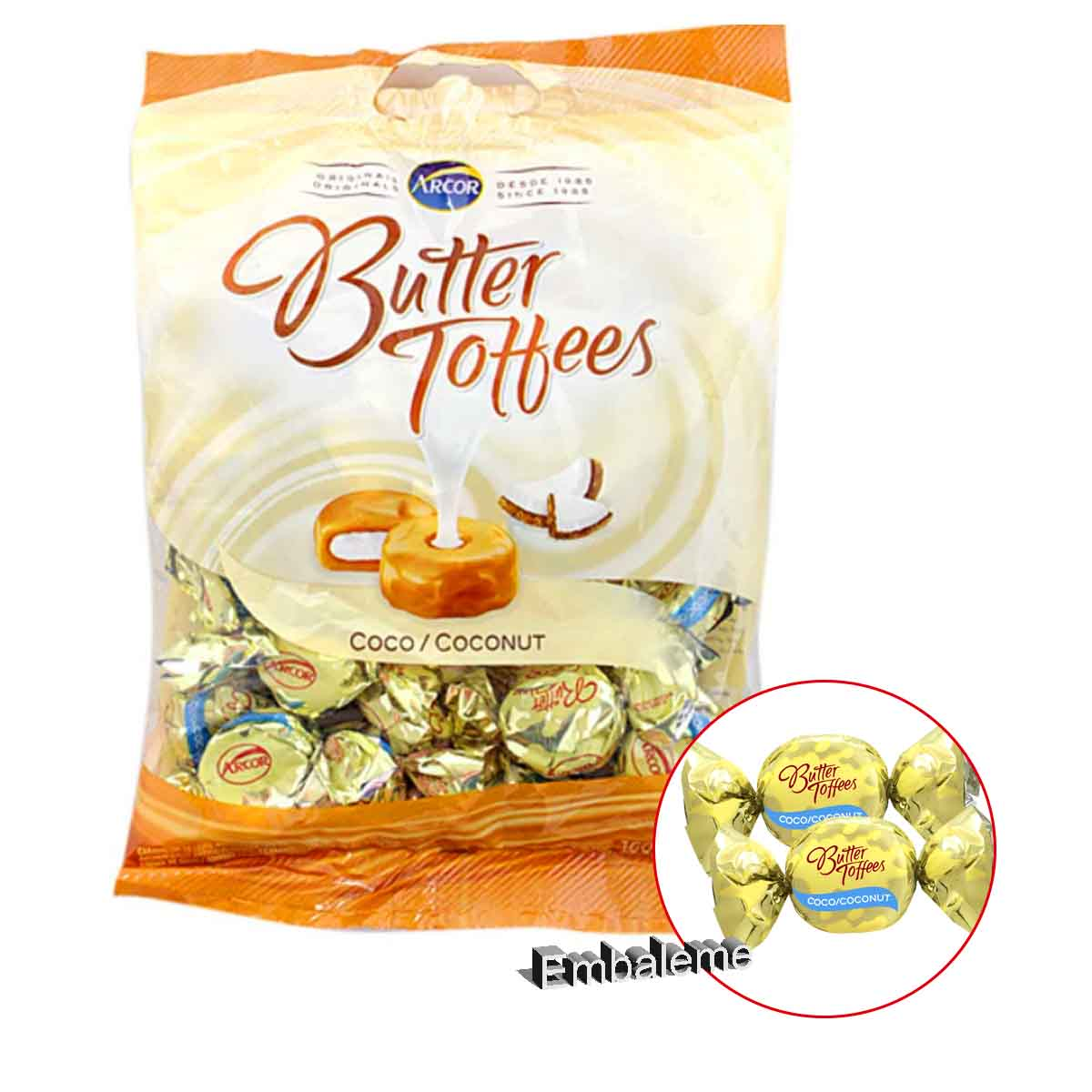Bala Butter Toffees Coco 500G Arcor