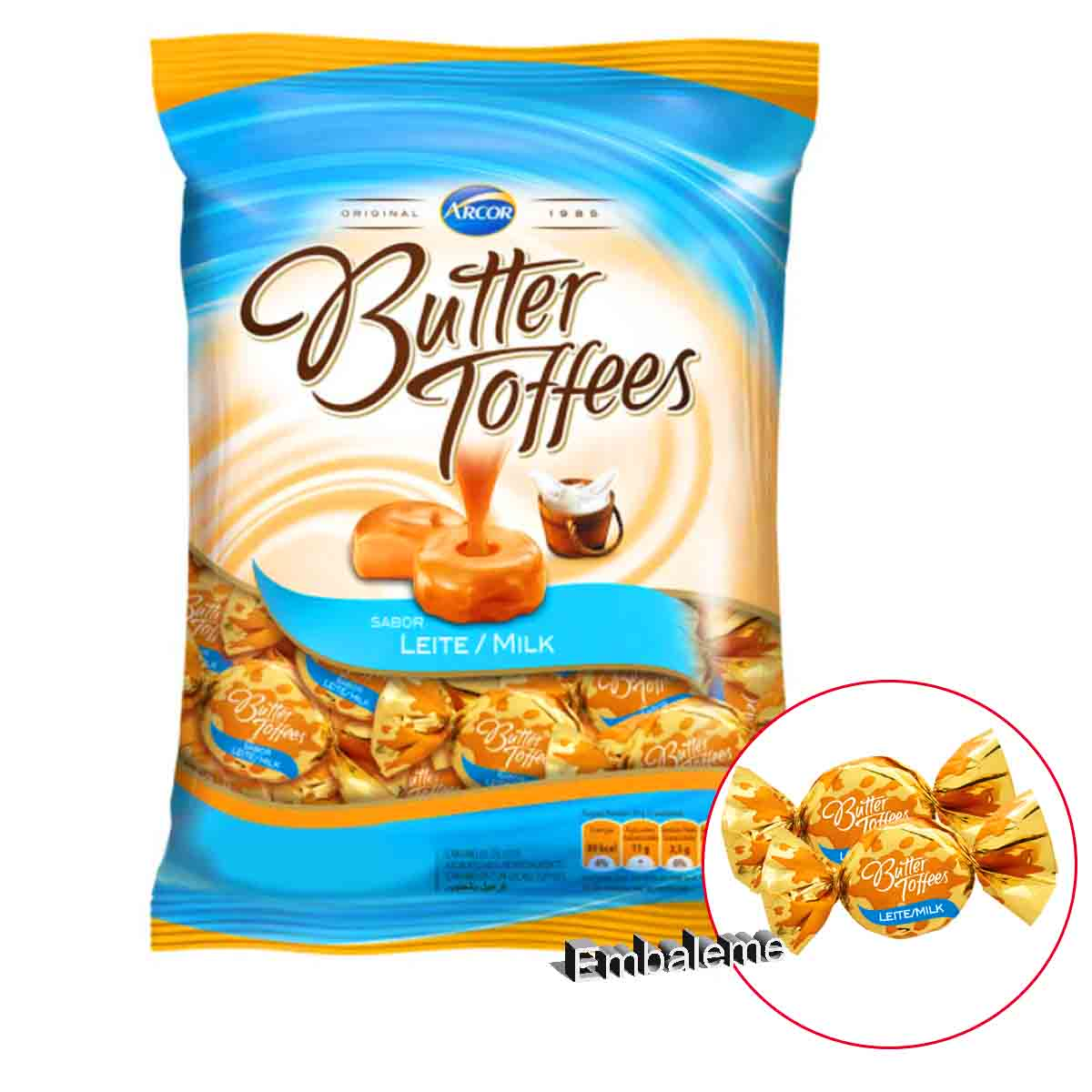 Bala Butter Toffees Leite 500G Arcor