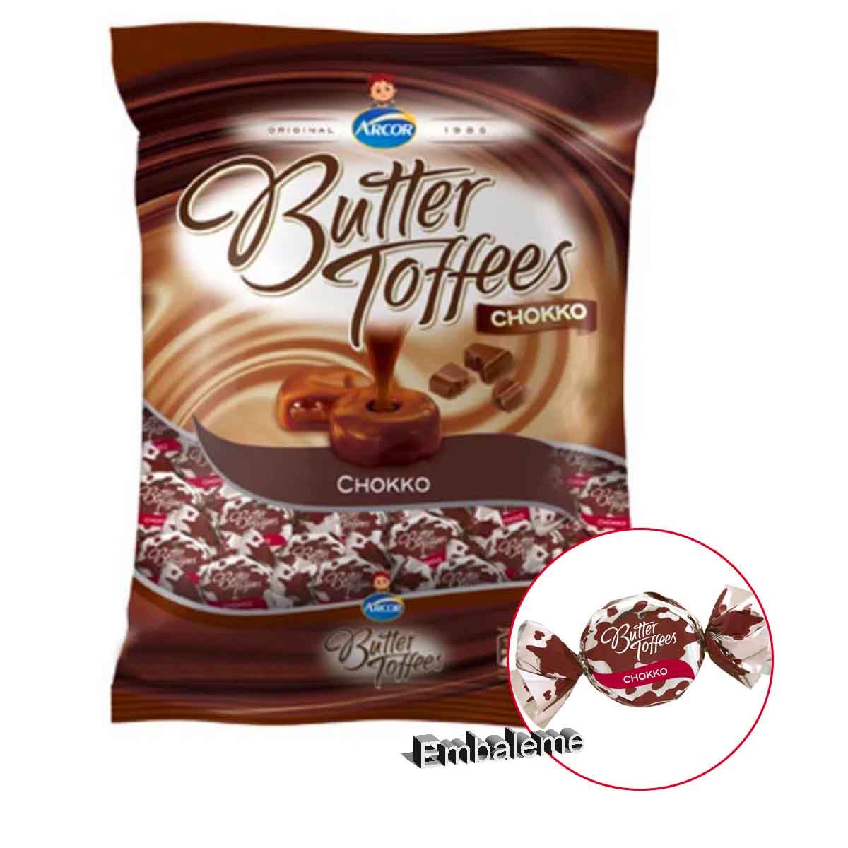 Bala Butter Toffees Chokko 500G Arcor