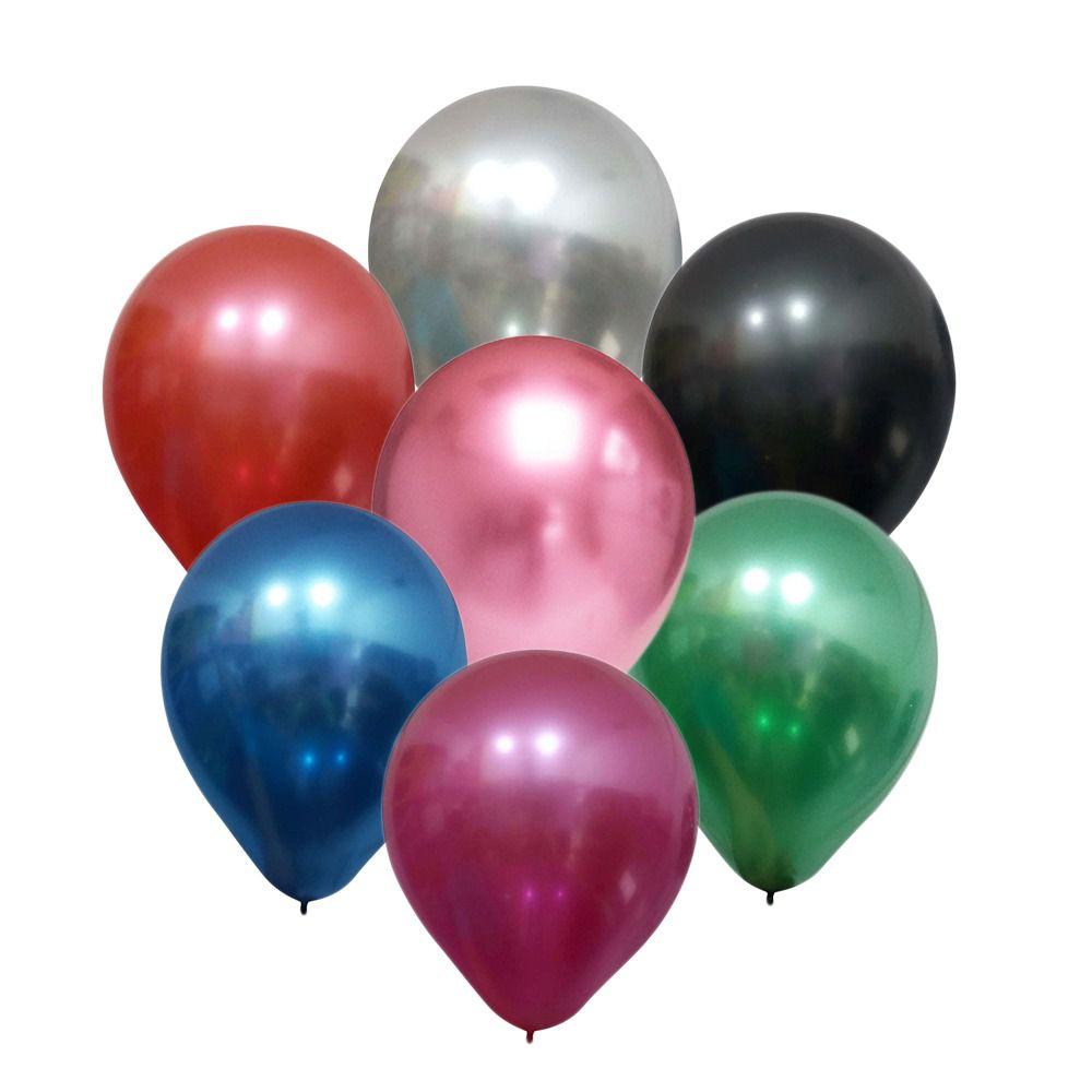 """Balão Alumínio c/25 Tamanho """"9"""" Happy Day Escolha Uma Cor!"""