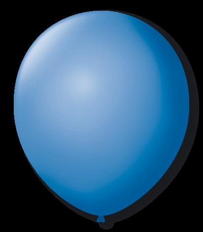 Balão Azul Turquesa Liso Número 7 São Roque c/50 Unidades