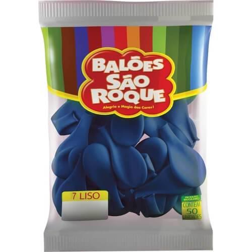 Balão Cobalto Liso Número 7 São Roque c/50 Unidades