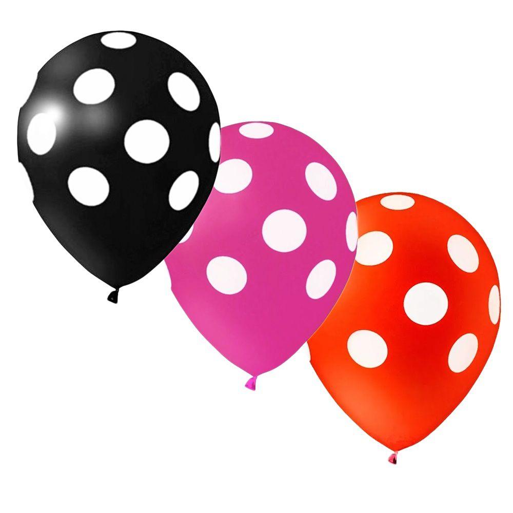 """Balão Confete c/25 Tamanho """"11"""" Happy Day Escolha uma Cor!"""