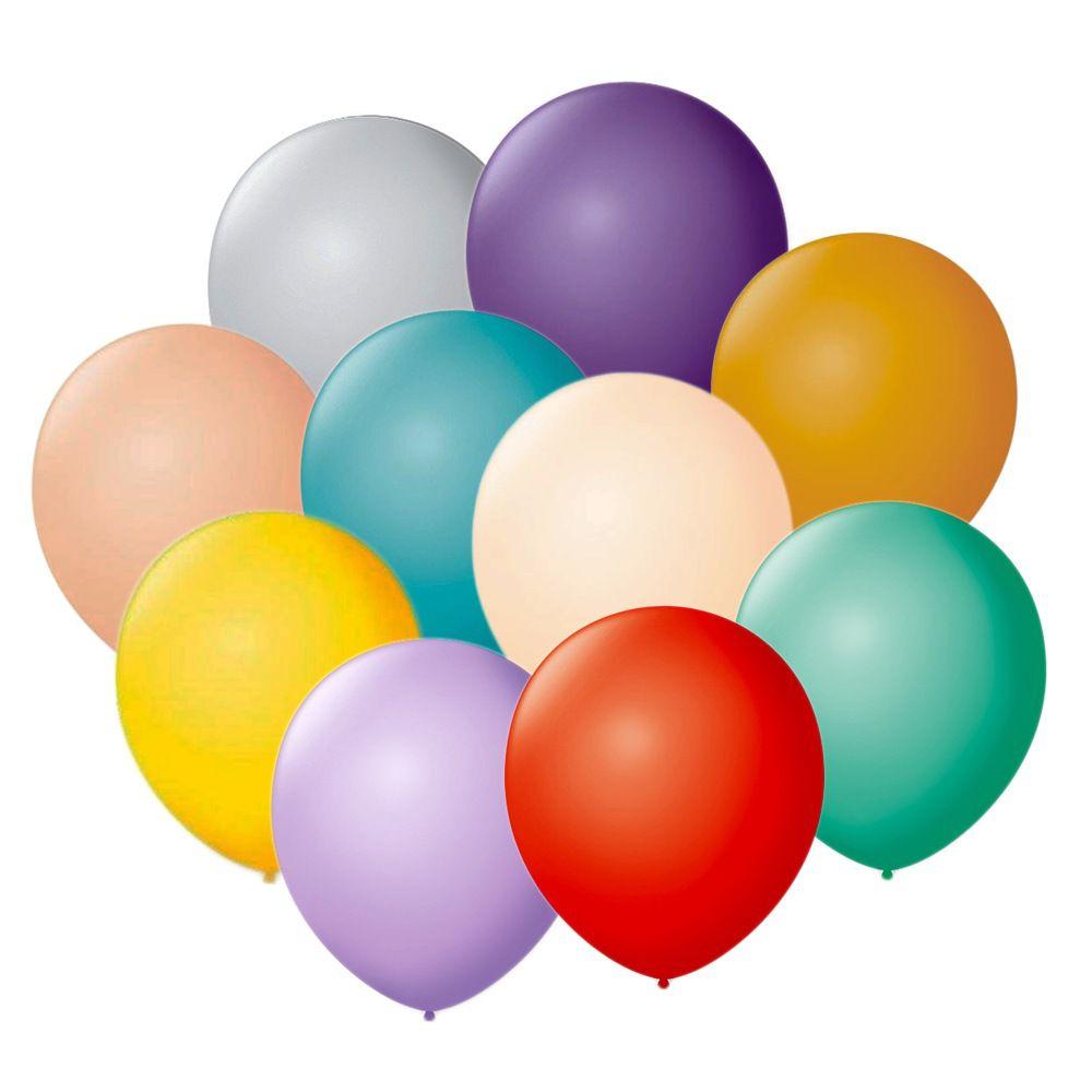 Balão Liso Número 7 São Roque c/50 unidades Escolha uma Cor!