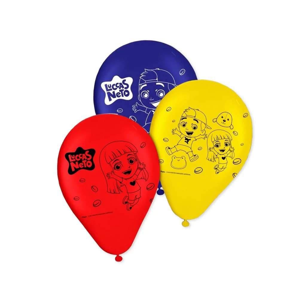 Balão Luccas Neto Tamanho 9 Regina C/25 Unidades