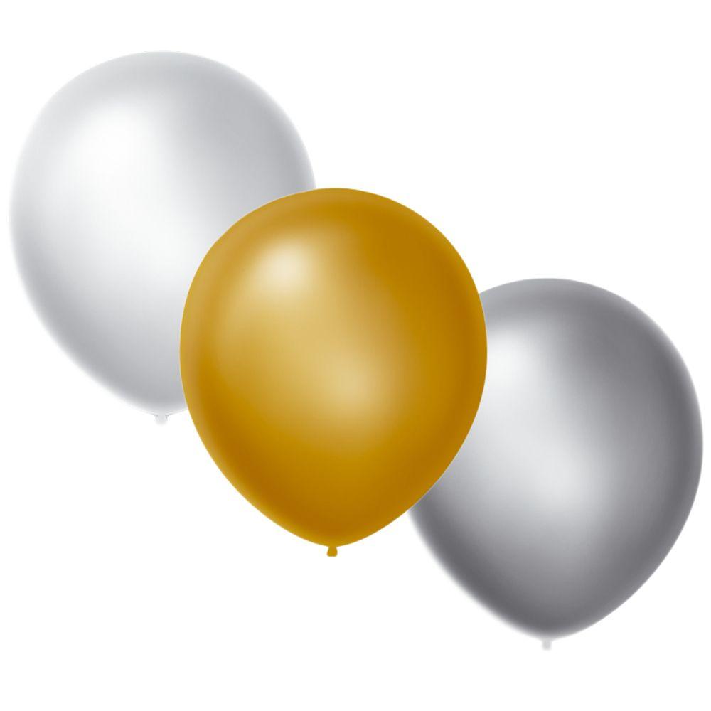 """Balão Perolizado c/25 Tamanho """"9"""" Happy Day Escolha uma Cor!"""