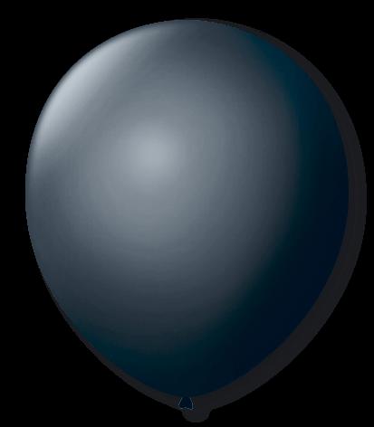Balão Preto Ebano Liso Número 7 São Roque c/50 Unidades