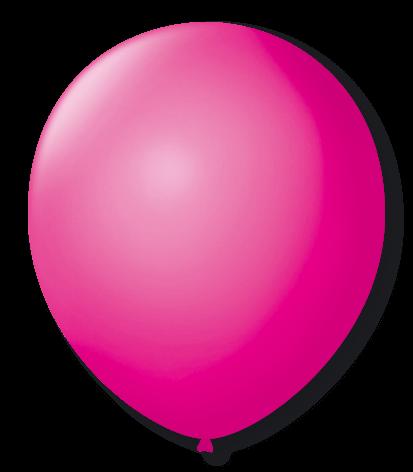 Balão Rosa Shock Liso Número 7 São Roque c/50 Unidades