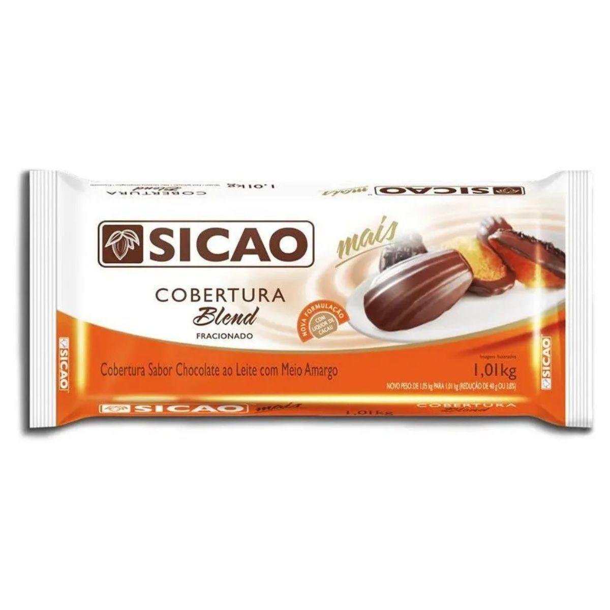 Barra Cobertura Fracionada Chocolate Blend Sicao Mais 1,01kg