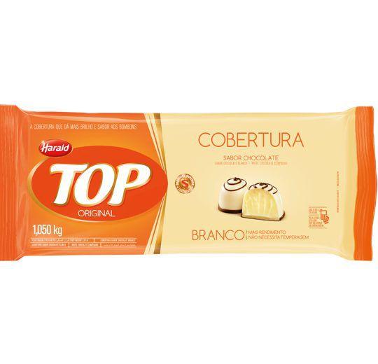 Barra de Chocolate Fracionado Top Branca 1,05kg - Harald