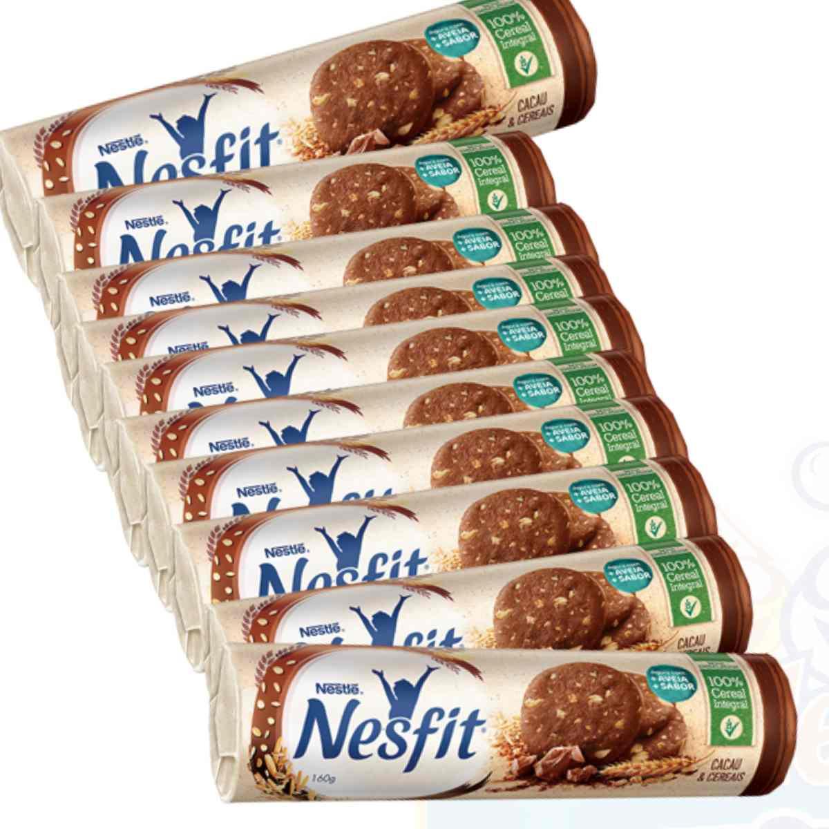 Biscoito Bolacha Nestif Cacau e Cereais 160g Nestle - KIT 10 unidades