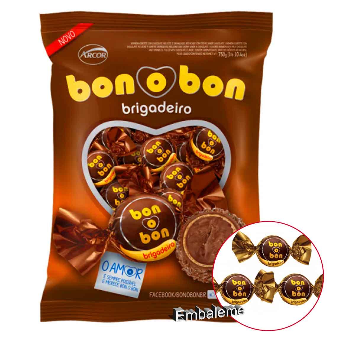 Bombom Arcor Brigadeiro Bonobom C/50 Unidades