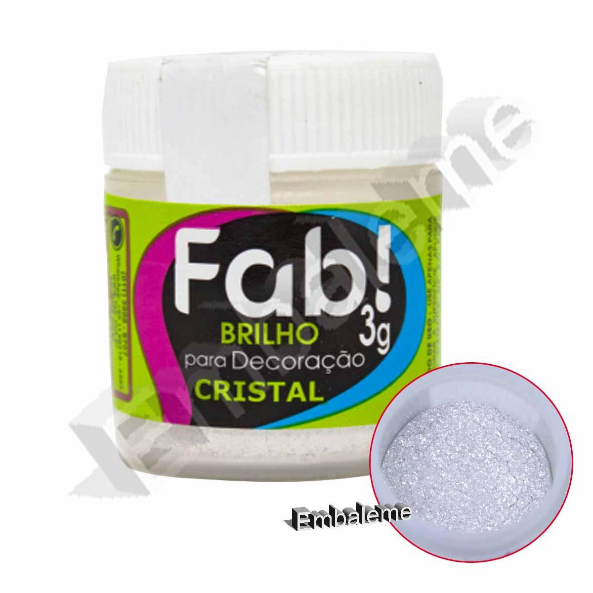 Brilho Para Decoração Cristal 3g Fab