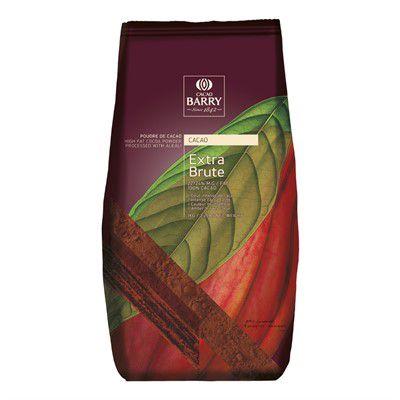 Cacau em Pó 100%  Cacau Alcalino Extra Brute 1kg Cacao Barry