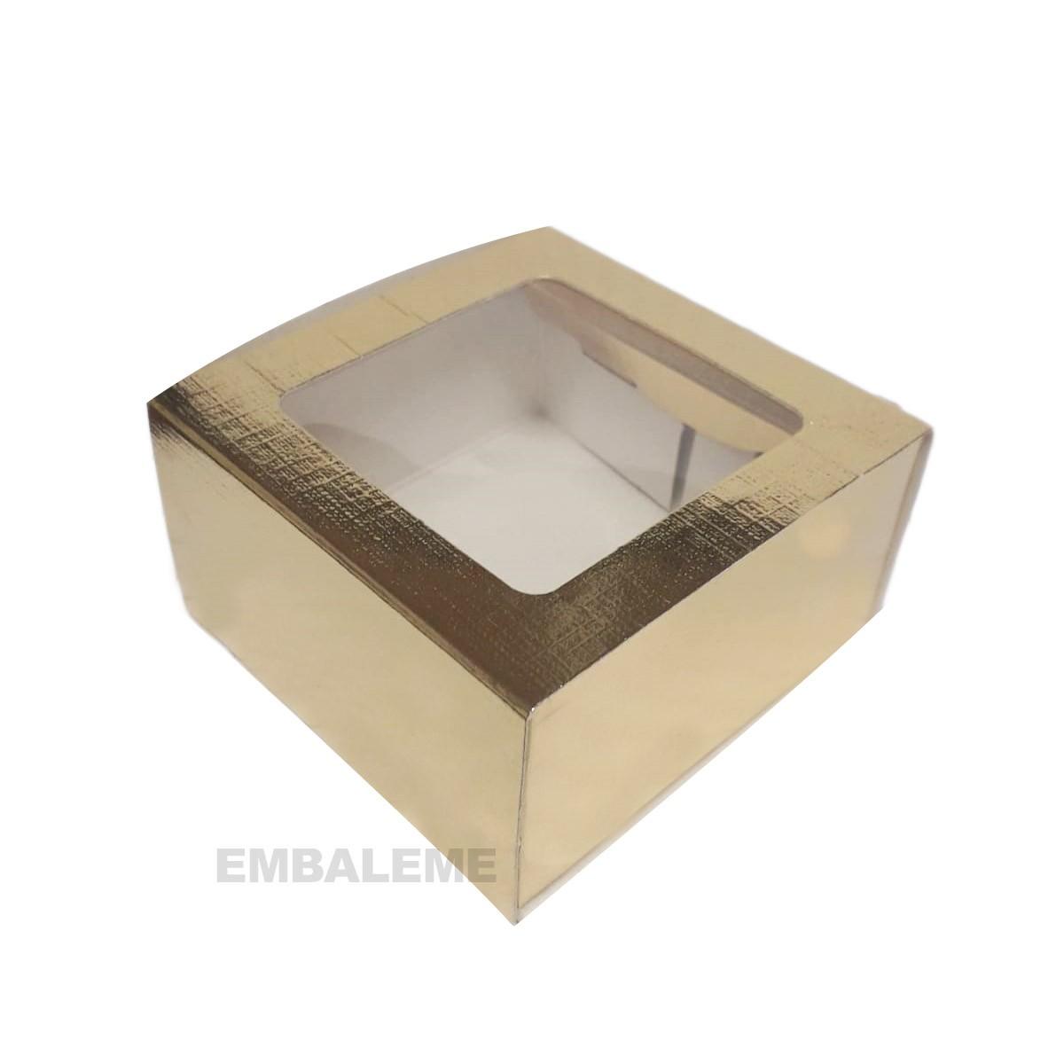 Caixa Gaveta Dourada C/ Visor C/10
