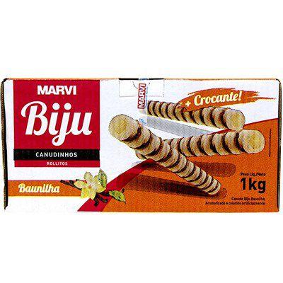 Canudinho Biju Sabor Baunilha 1kg Marvi