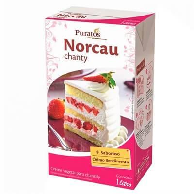 Chantilly Norcau Puratos 1l Para Bolo - Caixa C/12 Unidades