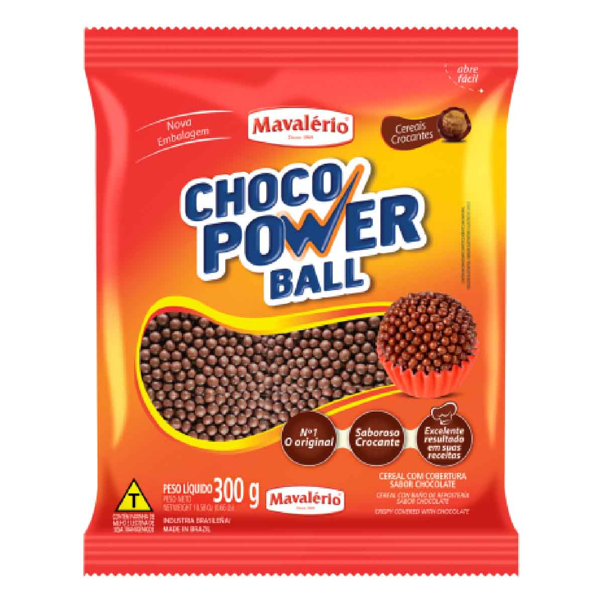 Choco Power Ball Micro Chocolate 300g Mavalério