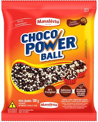 Choco Power Ball Micro Chocolate e Chocolate Branco 500g Mavalério