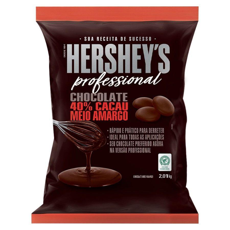 Chocolate 40% Cacau Meio Amargo 2,01kg Hershey's Professional