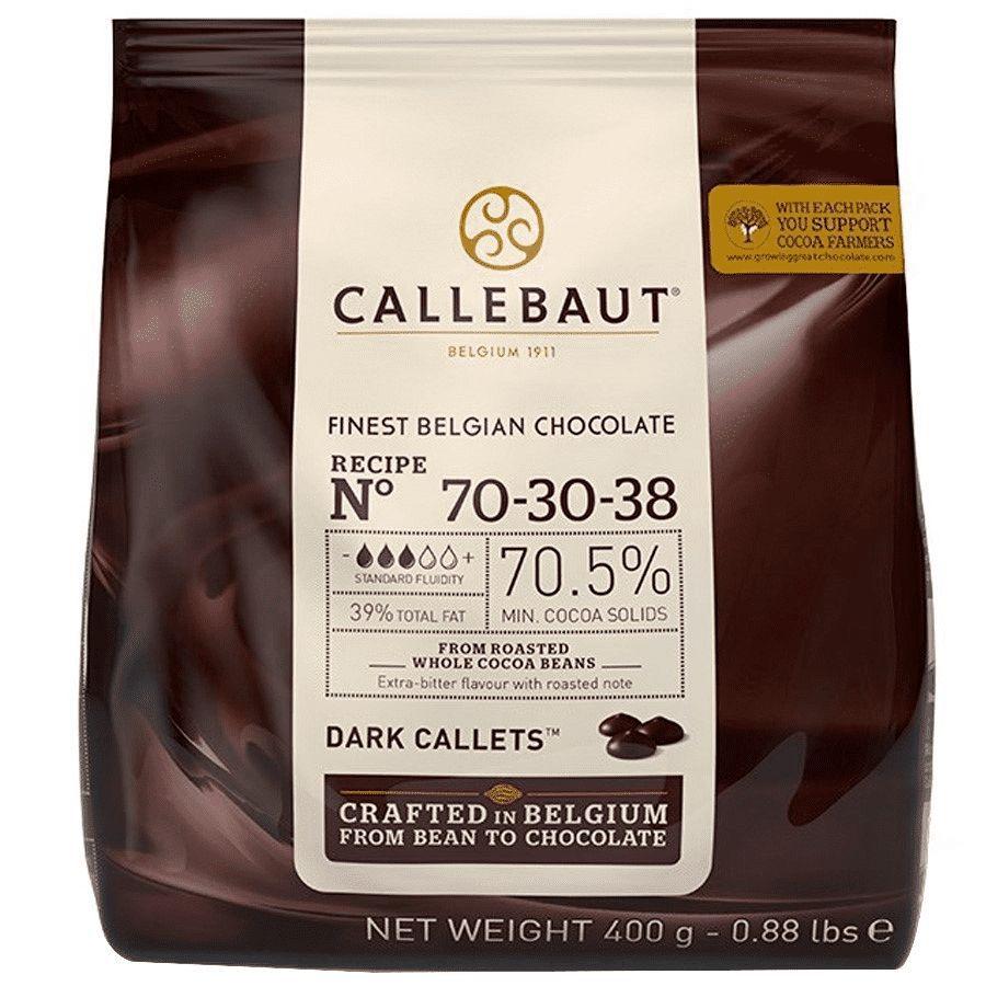 Chocolate Belga Callets Amargo 70-30-38 70.5% Cacau 400g gotas Callebaut
