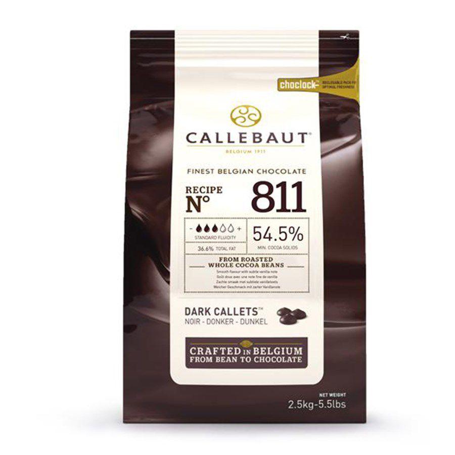 Chocolate Amargo callets 811 Gotas 2,5kg Callebaut 54% cacau 2.5kg