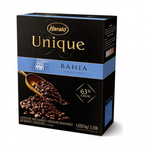 Chocolate Amargo Gotas Unique 63% Bahia 1,05kg Harald